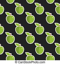 Apple Fruit Cute Seamless Food Pattern