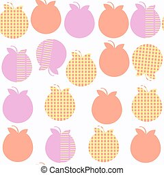 Apple  fruit   fantasy seamless pattern. It is located in swatch menu, vector image. Cute tile backdrop for design. Abstract background.