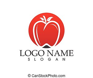 Apple fruit for web app icon and symbol vector illustration