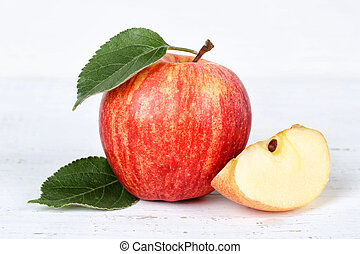 Apple fruit fruits red on wooden board