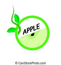 Apple Fruit icons flat style, Vector Illustration.