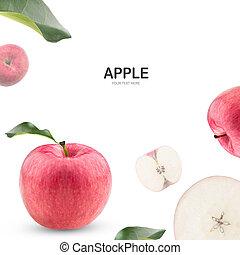 Apple fruit isolate on white background.