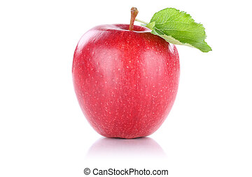 Apple fruit red isolated on white