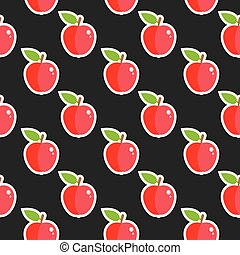 Apple Fruit Seamless Food Pattern