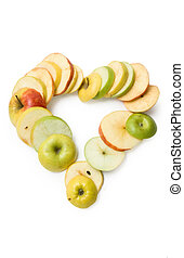 Apple fruits with cut