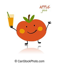 Apple, funny character for your design