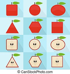 Apple geometric shape