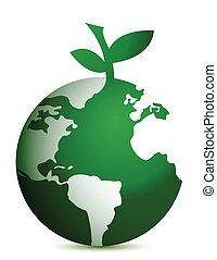 apple globe illustration design