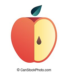 Apple gradient illustration