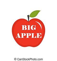 apple., grande, vector, ilustración