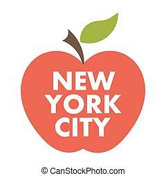 apple., grande, york, nuevo, ciudad