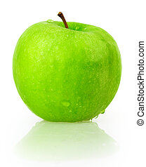 apple, green, drop water