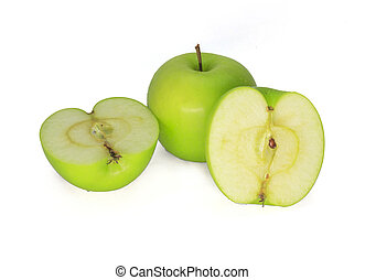 Apple green on a white background.