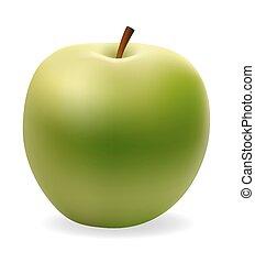 apple green vector illustration