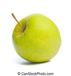 apple., groene, schot., studio