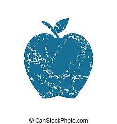 Apple grunge icon
