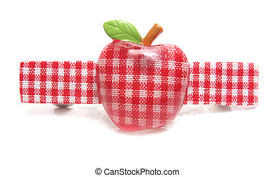 apple hairpin isolated on white background
