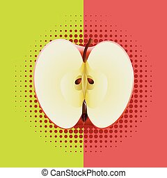 Apple half pop art