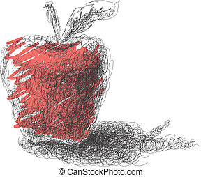 Apple. Hand drawn. Vector eps8