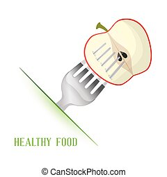 apple healthy food diet vector illustration eps 10