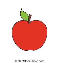 apple healthy food icon