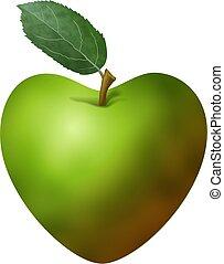 Apple Heart - Eat smart for you heart.