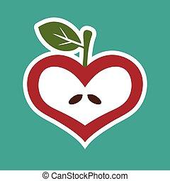 Apple Heart Icon