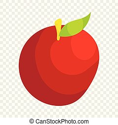 Apple icon, cartoon style