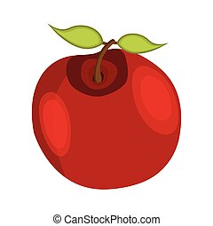 Apple icon. Cartoon style. Vector Illustration for Thanksgiving Day
