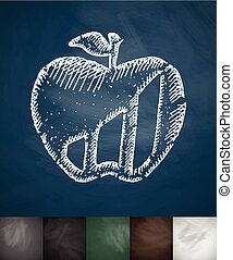 apple icon. Hand drawn vector illustration