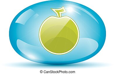 Apple icon in a sphere