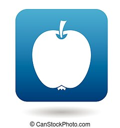 Apple icon in flat style