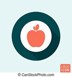 Apple icon isolated