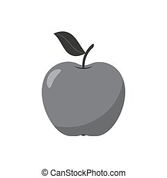 Apple icon isolated on white background. Vector illustration