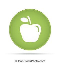 Apple icon on a circle on a white background. Vector illustration