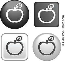 Apple Icon on Buttons Collection