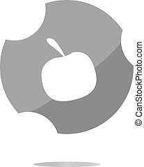 Apple icon on round button collection original button