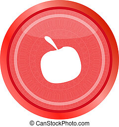 Apple icon on round button collection original button