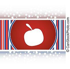 Apple icon on round button collection original button vector