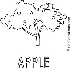 Apple icon, outline style.
