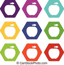 Apple icon set color hexahedron