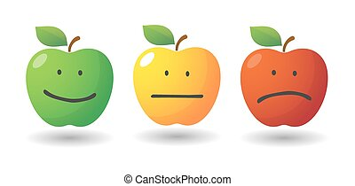 Apple icon set with emoticons