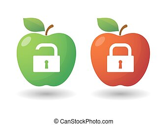 Apple icon set with lockpads
