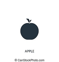 Apple icon. Simple gardening element illustration. Vector symbol design from agriculture collection. Can be used in web and mobile.