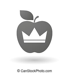 Apple icon with a crown
