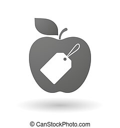 Apple icon with a label