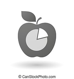 Apple icon with a pie chart