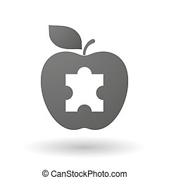 Apple icon with a puzzle piece