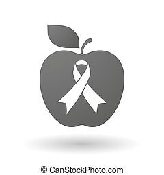 Apple icon with an awareness ribbon