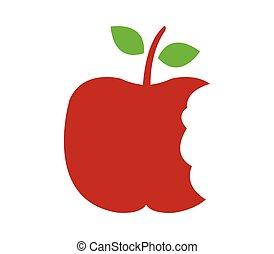 Apple icon with bite